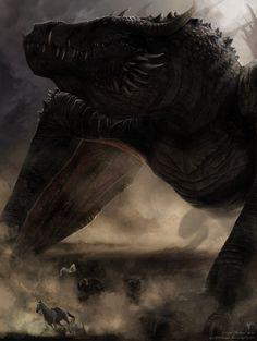 Balerion the Black Dread, dragon of Aegon the Conqueror Balerion the Black Dread by Earthenblood.deviantart.com on @deviantART