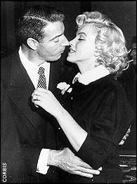 Few famous couples can match the combined celebrity of Joe DiMaggio and Marilyn Monroe.