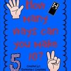 These are great posters to hang in your room when teaching different ways to make a certain number.  On each poster I have included different ways ...