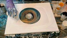Satin enamel cloud for - Acrylic pouring - Fluid art - Molly's artistry - Fluid art techniques video tutorial - Acrylic Pouring Techniques, Acrylic Pouring Art, Acrylic Art, Flow Painting, Pour Painting, Diy Art, Art Pastel, Diy Canvas Art, Resin Art