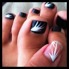 DIY burst nail art