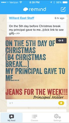 The Principal Blog: The 5 Days of Christmas Teacher Treats