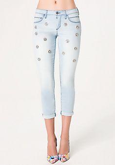 Scatter Embellished Jeans
