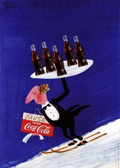 Drink Coca-Cola    Swiss, 1954.