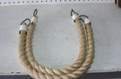 32 natural chunky rope curtain tie back beige tan khaki rope tieback thick 1-1:8 diameter 3