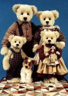 """""""Pioneer Family"""" On Permanent Display in a Museum at Huis Ten Bosch Theme Park in Japan Mary Holstad's Official Website - Teddy Bears, Dogs, Cats, Cottage Collectibles"""