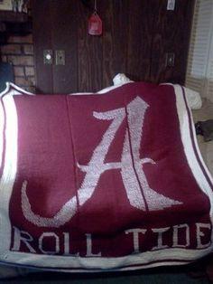 Alabama Crimson Tide Afghan - Crochet Me