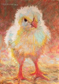 """""""Chicky"""" (pastel, 7x5 inches) $200 unframed for a limited time Day 15 of my 30-paintings-in-30-days of November. One of today's t..."""