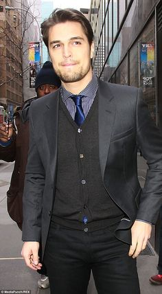 Off-screen stud: Diogo Morgado leaving the Today Show in New York last month, where he says he takes acting very seriously