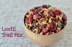 Inspiration for this recipe comes from the USA Dry Pea and Lentil Council whose booth we visited at the IACP (International Association of Culinary Professionals) Culinary Expo. Mom and I made sure to have a heaping salad lunch before parading through aisles of tempting treats, but the pea and lentil trail mix they were serving …