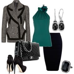 My first Polyvore creation - buisness attire