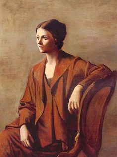 Portrait of Olga Picasso by Pablo Picasso