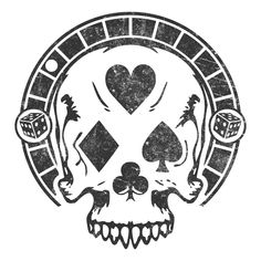 Deadly Gamble Poker Skull design Skull Design, Tattoo Flash, Poker, Cards, Design Tattoos, Maps, Playing Cards, Flash Tattoos