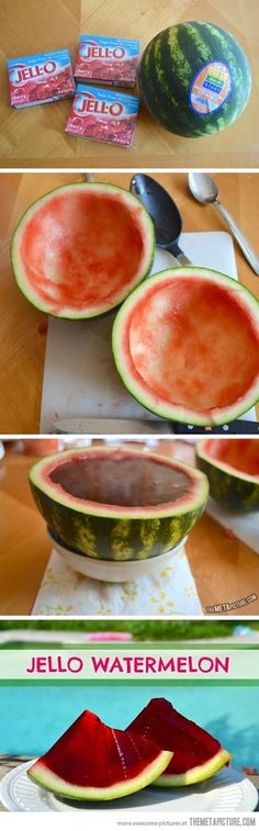 Jell-O Watermelon…the ultimate Jell-O shot?