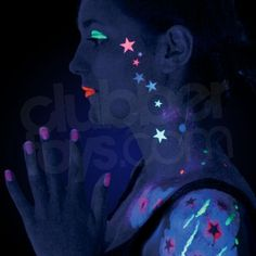 neon+facial+pictures | UV Neon Face Paint & UV Neon Body Paint
