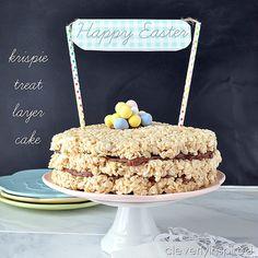 Rice Krispie treat layer cake