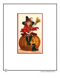 vintage halloween printables Vintage Halloween postcard from www.craftjr.com