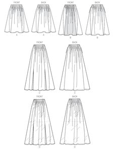 M6931 | Misses' Skirts | New Sewing Patterns | McCall's Patterns
