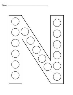 FREE Letter N Do-A-Dot Printables - Includes Uppercase and Lowercase Letters in 2 Versions! Letter N worksheets like these are perfect for toddlers, preschool, pre-k, and kindergarten. They're great for letter recognition, fine motor skills, and more! Get the free letter N coloring pages here --> https://www.mpmschoolsupplies.com/ideas/7792/free-letter-n-do-a-dot-printables-uppercase-lowercase/