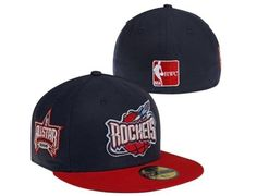finest selection eb5c0 0312e New Era Houston Rockets Hardwood Classics 2006 All-Star Game Capper Fitted  Hat - Royal Blue Gold