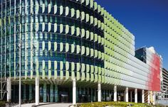 "Royal Children's Hospital Melbourne. (Billard Leece/Bates Smart Architects)It may have cost 1 billion but the complex is a work of art. Love the whimsical ""petals"" on the exterior and the interior is so artful and colorful."