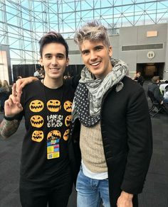 Frank Gioia and Joey Graceffa ♡ too many pretty breathtaking eyes in this picture. I might go blind