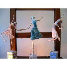 Bailarinas De Papel - Esculturas Arte  Deco Hecho A Mano - $ 299,00