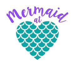 Mermaid at heart Decal Mermaid decal Mermaid Mermaid window