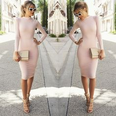 Love this dress from @nakedwardrobe  Shoes @lolashoetique  Purse #YSL