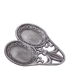 Loving this Antique Pewter Fleur-de-Lis Double Spoon Rest on #zulily! #zulilyfinds