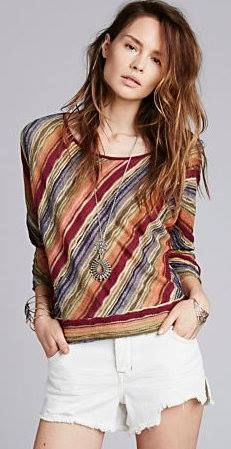 Colorful stripes from FREE PEOPLE!!