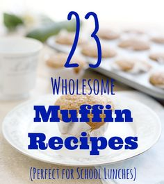 Looking for a wholesome addition to your kids' school lunch? Try one of these healthier muffin recipes!