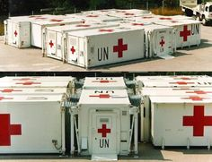 Containerized part of modular field hospital of the United Nations for mobile applications. - Image - Army Technology