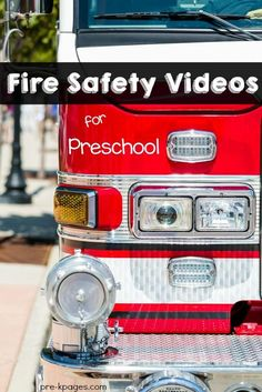 Fun songs and educational videos for teaching and learning about fire safety in your preschool, pre-k, or kindergarten classroom. Fire Safety For Kids, Fire Safety Week, Summer Safety, Child Safety, Teaching Safety, Community Helpers Activities, Fall Preschool, Preschool Games, Teach Preschool