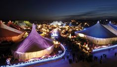 Winter Tollwood in Munich.  like an alternative version of the German Christmas Market.  So good!