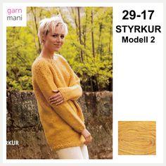 29-17 STYRKUR Modell 2 - Garnmani.no - Spesialist på islandsk ull Ravelry, Sweaters, Dresses, Fashion, Threading, Vestidos, Moda, Pullover, Sweater