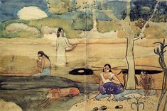Tahitian Scene, 1892  Paul Gauguin. Stockholm, Sweden.  www.artexperiencenyc.com