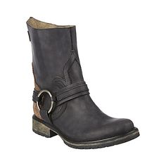 JUDDGE BLACK LEATHER women's bootie flat riding boot - Steve Madden $149.95