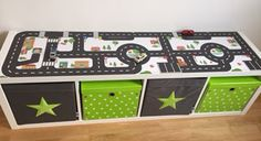 Nursery design: How creative our customers are- Kinderzimmergestaltung: So kreativ sind unsere Kunden IKEA Kallax Shelf with play surface above and storage space … -