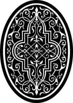 Illustration of Arabesque ornate with flowers decoration in editable vectors, Grayscale vector art, clipart and stock vectors. Islamic Motifs, Islamic Art, Stencil Patterns, Stencil Designs, Vector Design, Vector Art, Diy Resin Table, Deco Foil, Arabesque Pattern