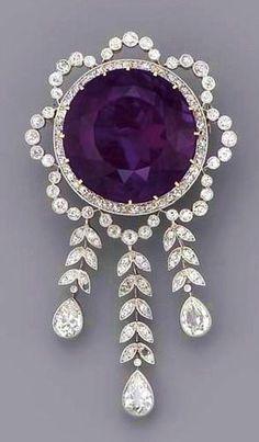 Amethyst Brooch, 190 fashion love #DiamondBrooches