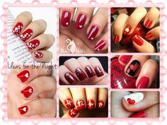 Valentine's day nail art ideas #valentinesday #nailart #ideas #ideasforthenight #nails #romantic #sexy #red #white #hearts #love #mood #cute #sweet #polkadots #glitters