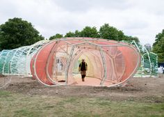SelgasCano's Serpentine Gallery Pavilion nears completion.