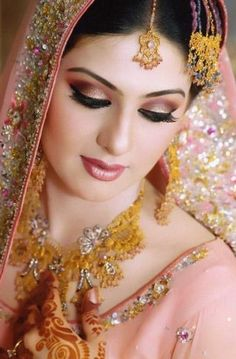 Indian Bridal Makeup.  Love it
