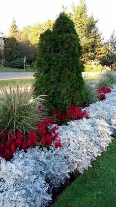 Front Yard Garden Design, Front Garden Landscape, Garden Yard Ideas, Lawn And Garden, Garden Projects, Garden Paths, Garden Art, Landscape Rake, Front Yard Decor