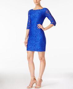 Ivanka Trump Three-Quarter-Sleeve Lace Sheath Dress-I have this dress !!!