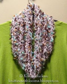 Knitting With Looms: Finished Fluffy Cowl