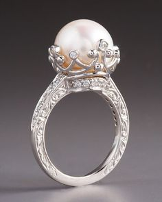 Penny Preville Pearl & Diamond Ring - Neiman Marcus