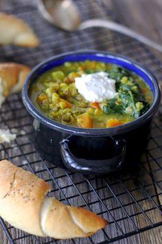Polévka z čočky se špenátem a dýní 2, Foto: All