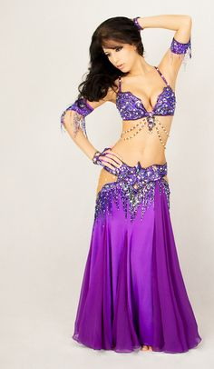 Bella modeled by Ameera - purple #bellydance costume
